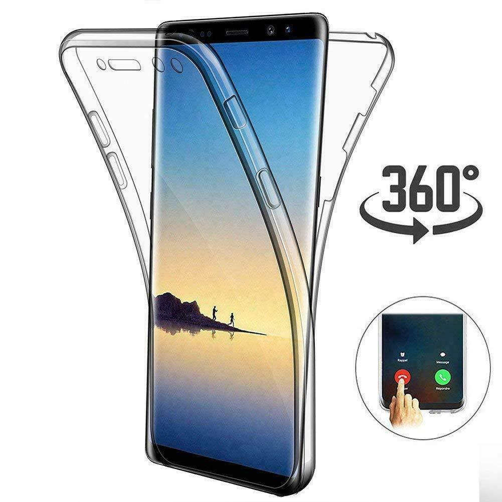 Funda suave s10plus para Samsung Galaxy M20 M30 A40S A60 A70 A50 A40 S10 S9 S8 Plus S10E 360, carcasa completa de silicona transparente para teléfono