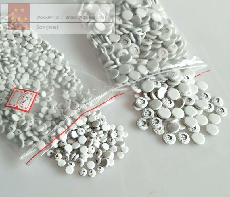 50 pcs Various Size Clarinet pads set White leather pads parts 6mm-17mm kit