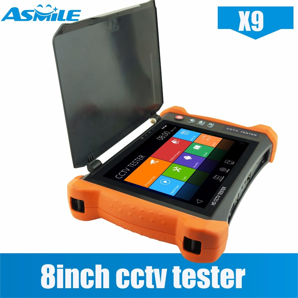 2018 manufacture all in one CCTV tester TVI 8MP, CVI 8MP, AHD 5MP/HD SDI/EX-SDI cctv tester monitor with RJ45 TDR Cable Test