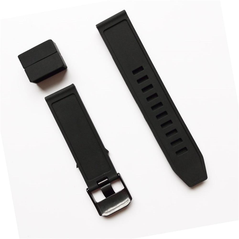Ремешок для часов XBERSTAR 23 мм, сменный резиновый силиконовый ремешок для часов, ремешок для часов с резиновым ремешком, черный металлический браслет с пряжкой