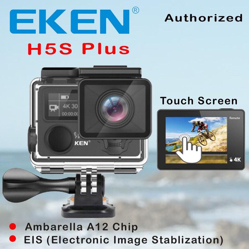 EKEN H5S Plus Ultra HD Cámara de Acción pantalla táctil Ambarella A12 EIS 4 k/30fps 720 p/200fps 30M resistente al agua ir casco pro sport cam