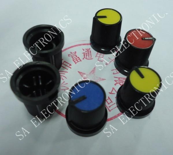 [BELLA]Shelf nobility workmanship 15MM plastic hat full -color volume potentiometer knob--100PCS/LOT
