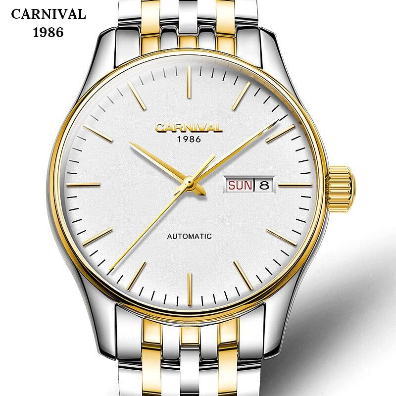 Switzerland Top Brand Business Mens Mechanical Auto Date Watches Automatic Steel Silver Gold Watch Men Calendar Relogio 2019
