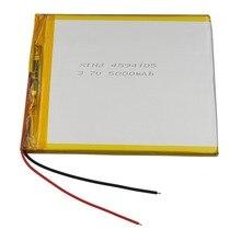 XINJ 3.7 V 5000 mAh lithium polymeer batterij li ion li po mobiele Voor GPS ipod PAD MID E-Book Sat nav Draagbare DVD Tablet PC 4594105