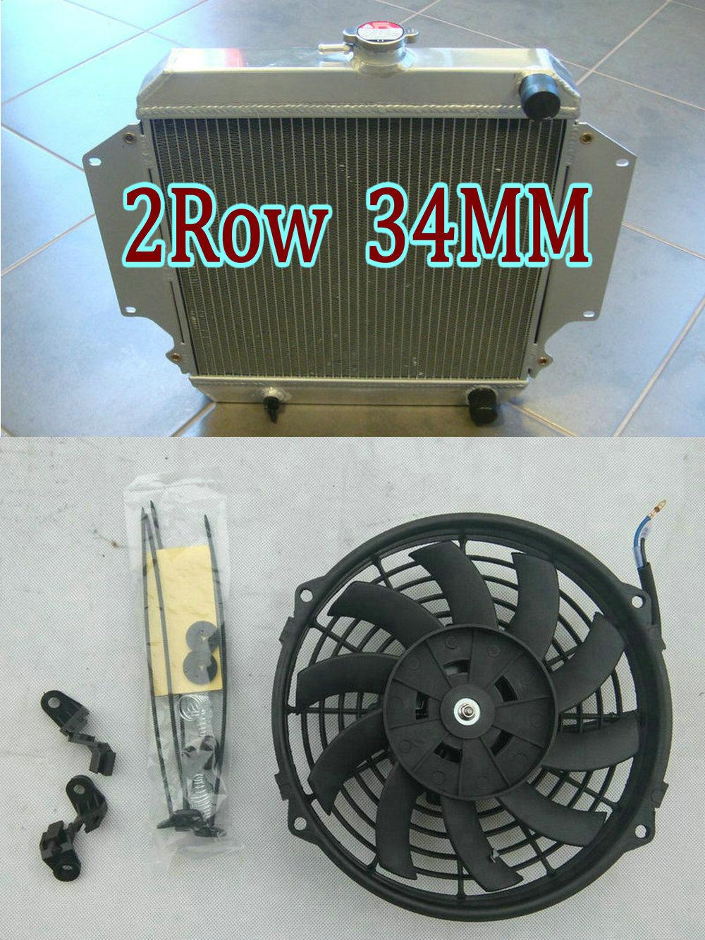 Radiador y ventilador de aluminio para Suzuki Sierra 2Dr Spftop Hardtop 1.3L SJ410 SJ413 OS 1,3 1981-1996 MT Jimny MK2 Potohar Santana SJ