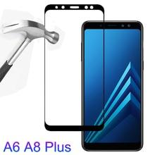 Gehärtetem Glas Auf Die für Samsung Galaxy A6 A8 2018 A6Plus A8Plus A8 A6 Plus 2018 Screen Protector Sicherheit Schutz glas Film
