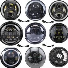"Universal 7"" Led Car Motorcycle Headlight H4 Phare Farol Moto Headlamp HeadLight For BMW Softail Cafe Racer Chopper Honda Yamaha"