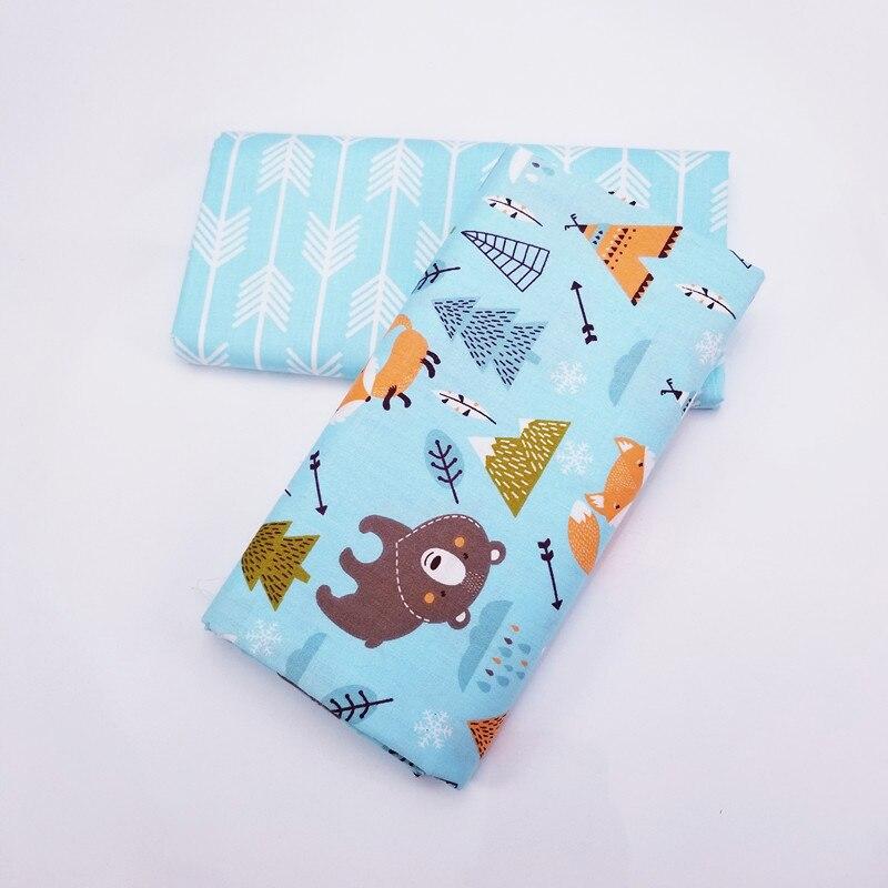 Estampado de oso, ropa de bebé, tela de sarga de algodón, tela de Patchwork, tela textil, costura DIY, acolchado, cama de dormitorio, funda de almohada, Material