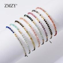 ZMZY, moda, nuevas pulseras de cuentas de piedra naturales para mujer, ajustable, Multi Color, cuentas Miyuki, joyería, cadena, pulsera, regalo