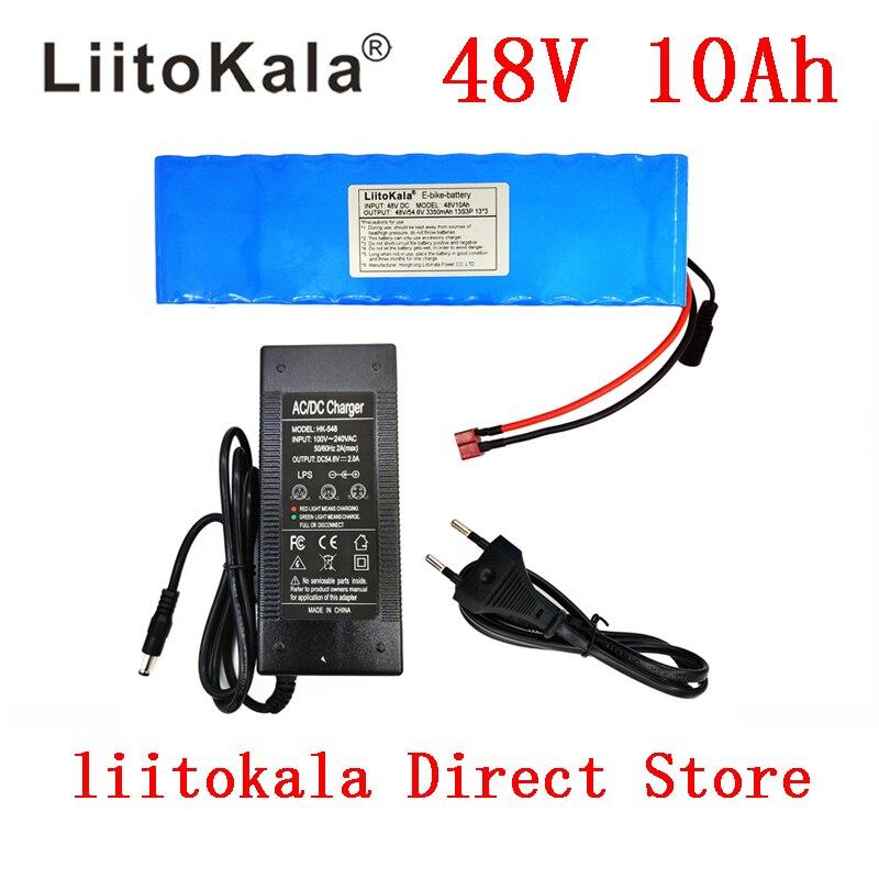 LiitoKala e-bike battery 48v 10ah li ion battery pack bike conversion kit bafang 1000w and charger