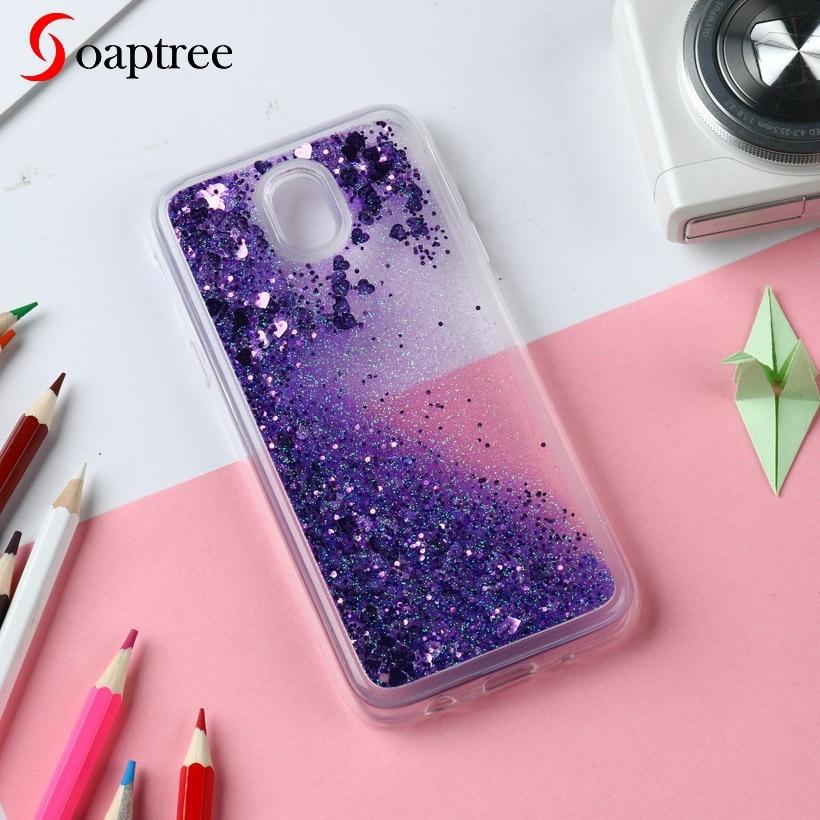 Glitter Liquid Silicone Cases For Samsung Galaxy J5 2017 EU Case Soft TPU Coque For Samsung Galaxy J530 Cover Phone Fundas