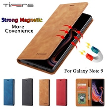 Luxury Leather Note9 Case For Samsung Galaxy Note 9 Magnetic Wallet Flip Card Holder Stand Book Bag
