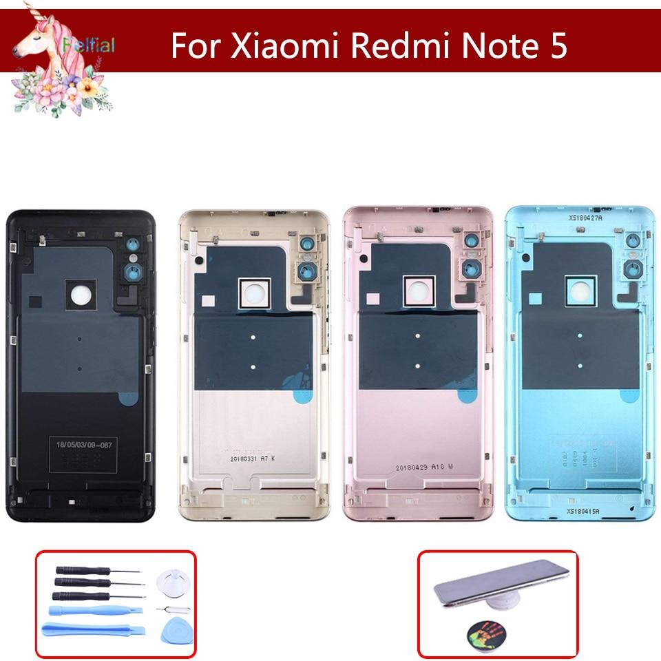 10 Uds Original para Xiaomi Redmi Note 5/Note 5 Pro cubierta trasera de la batería carcasa trasera llave lateral reemplazo piezas de repuesto