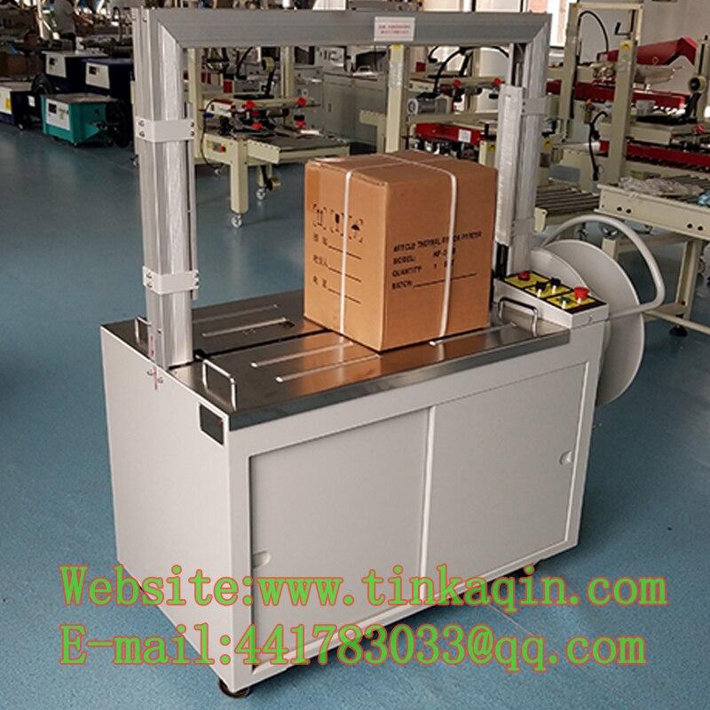 Máquina de Cintar Automática aferidor da caixa KZ-8060 duplo terceira máquina de cintar fita warapping máquina PP PET embalagem prensa