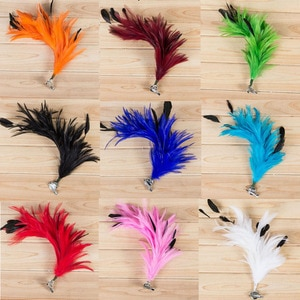 Women Girls Ladies Bridal Feather Headdress Brooch Hairpin for Wedding Decoration Birthday Party Supplies Hair Accessories
