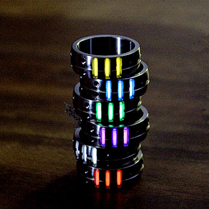 1PC 16 18 20 22mm titane alliage anneau avec Tritium Tube Tritium gaz auto-lumineux EDC anneau lumineux Multi outils accessoires
