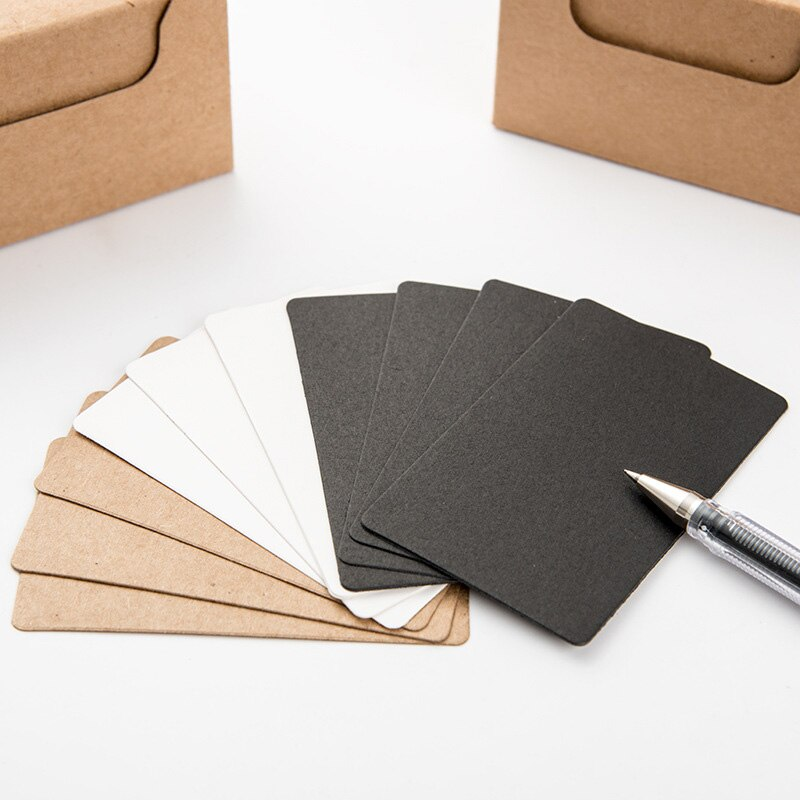 20 unids/lote lindo blanco y negro Tarjetas de papel Kraft Memo Pad nota Tarjeta de almohadillas creativo de la Escuela de la tarjeta de regalo