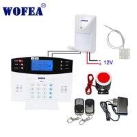 Wofea     systeme dalarme de securite domestique filaire  avec ecran LCD  interphone sans fil  type capteur  GSM