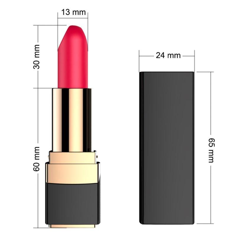 10 frecuencia Mini lápiz labial pezón masaje corporal clítoris vagina estimulación vibrador masajeador relajante USB carga U1JD