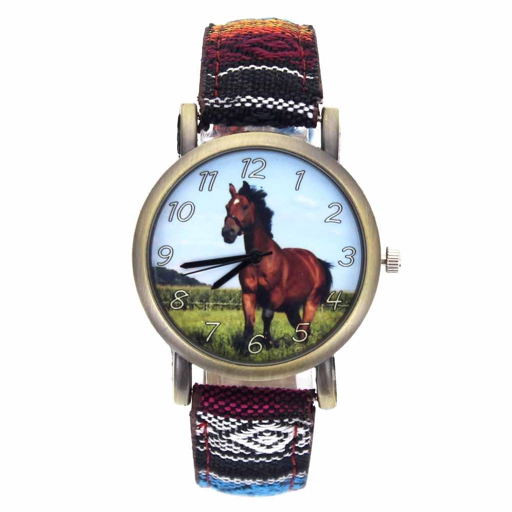Running Horse Print Animal Unicorn Horses Fashion Men Women Stripes Denim Cloth Canvas Band Sport Qu