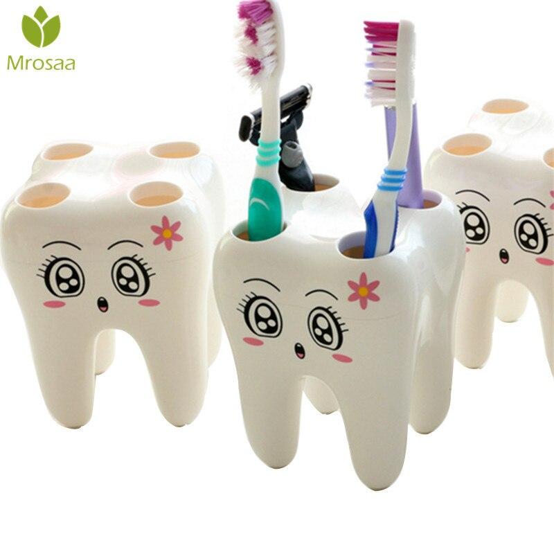 Mrosaa зубная щетка с 4 отверстиями, держатель для зубной щетки ABS, мультяшная зубная щетка, подставка, кронштейн, стойка для ванной комнаты, наб...