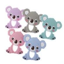 10pcs Animal Bpa Free Koala Silicone Teethers Bear Baby Teether Toys Infant Teething Pendant Toys Chewing Nursing Gifts