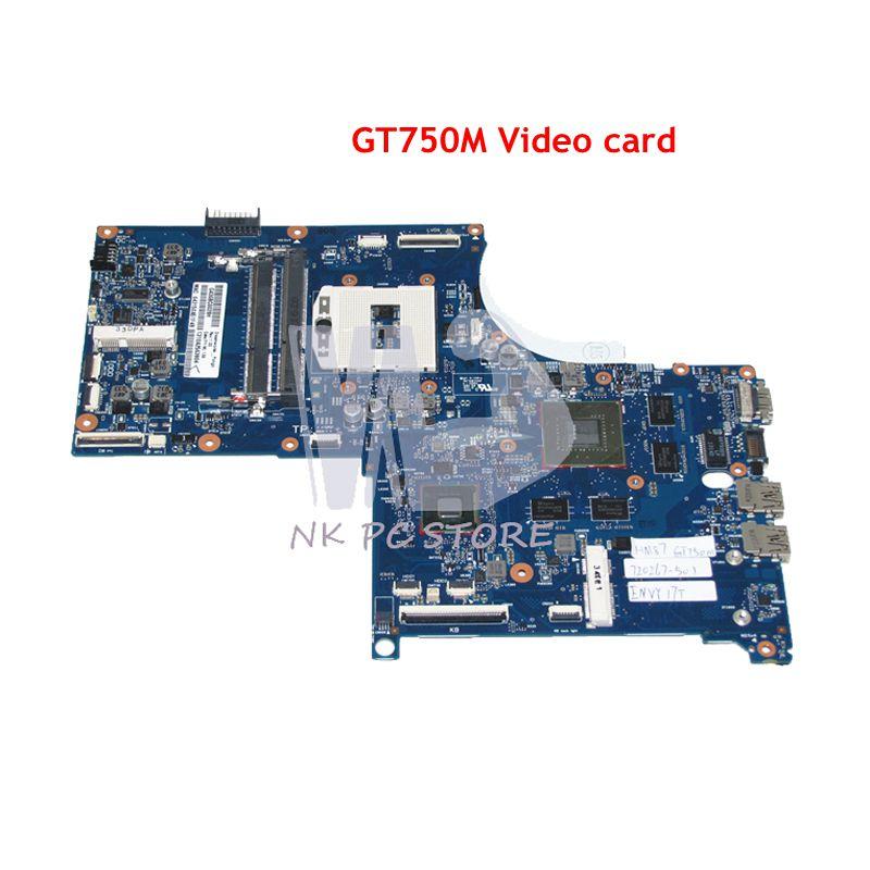 NOKOTION 720267-501 720267-001 MAIN BOAD For HP Envy QUAD TouchSmart 17 M7 17T Laptop Motherboard HM86 DDR3L GT750M Video card