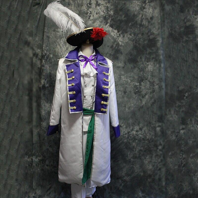 Hombres de lujo Axis powers cosplay traje medieval vintage época traje chaqueta, camisa, pantalones y sombreros/Guerra civil/cosplay