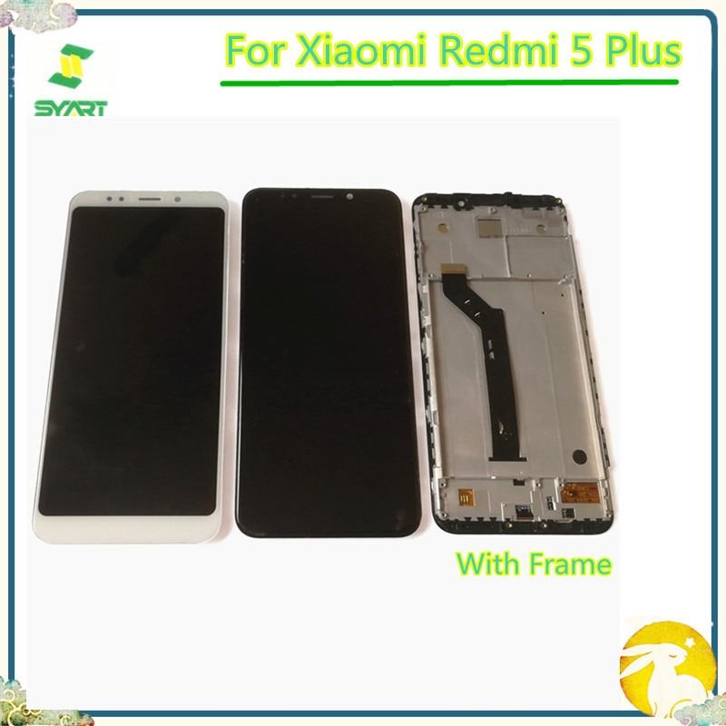 "100% prueba 5,99 ""Pantalla LCD para Xiaomi Redmi 5 Plus pantalla LCD de montaje de digitalizador con pantalla táctil para Xiaomi Redmi5 Plus LCD"