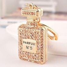 Joli parfum parfum bouteille breloque pendentif strass sac à main sac porte-clés cadeau