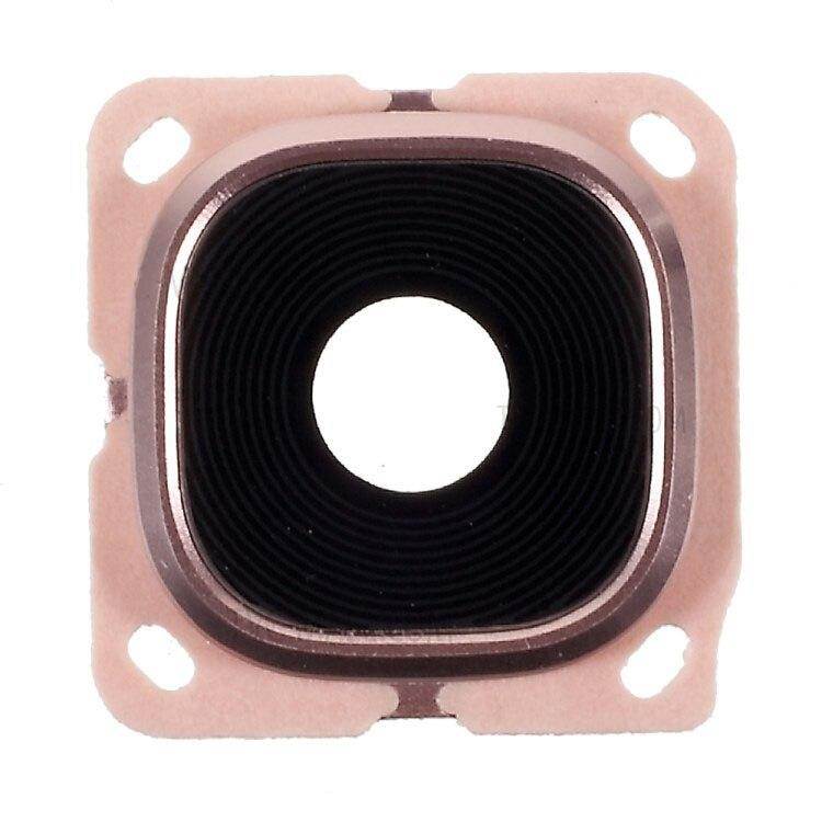 Lente de la Cámara de piezas de repuesto C5 C7 para Samsung Galaxy C5 C5000 C7 C7000 lente de cámara marco con adhesivo etiqueta engomada