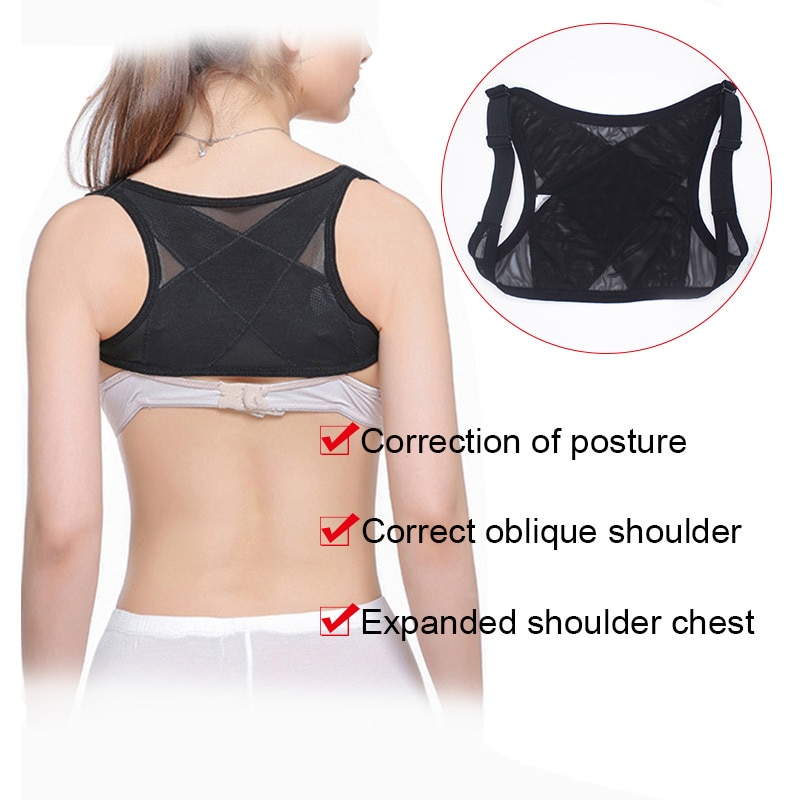 Corrector de postura traseira para mulheres ombro suporte respirável colete ajustável cinta cinto dropshipping dfa