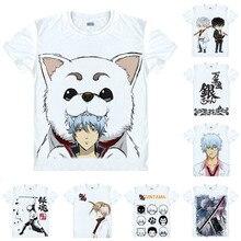 Coolprint Anime Shirt GINTAMA Gin Tama Silver Soul T-Shirts Short Sleeve Gintoki Sakata Sadaharu Cosplay Motivs Hentai Shirts