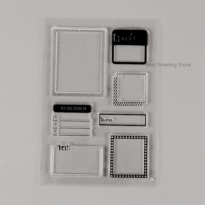 Фоторамка штампы прозрачные силиконовые штампы для скрапбукинга пули печать для журнала планировщик блокнот для путешествий