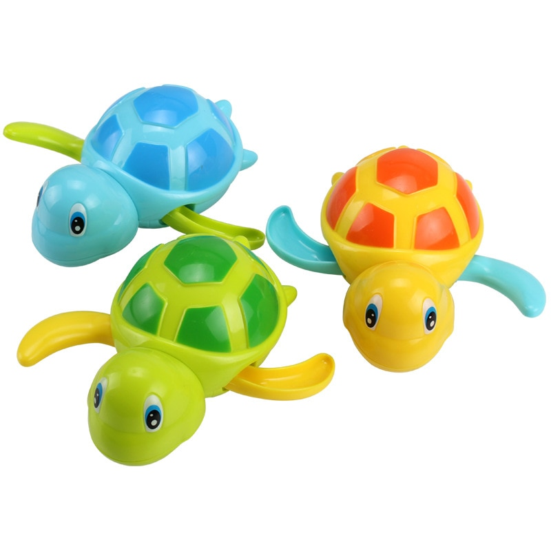 Single Sale Cute Cartoon Animal Tortoise Classic Baby Water Toy Infant Swim Turtle Wound-up Chain Cl