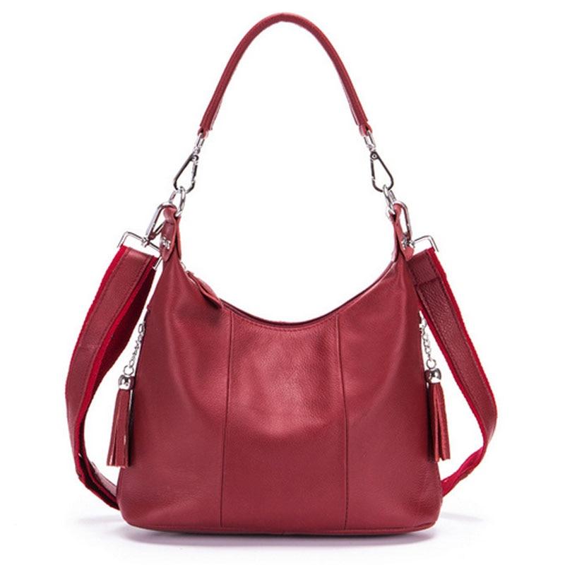 High Quality Women Bag First Layer Cowhide Tote Shoulder Messenger Bag Fashion Female Trend Brand Crossbody Bags Handbags