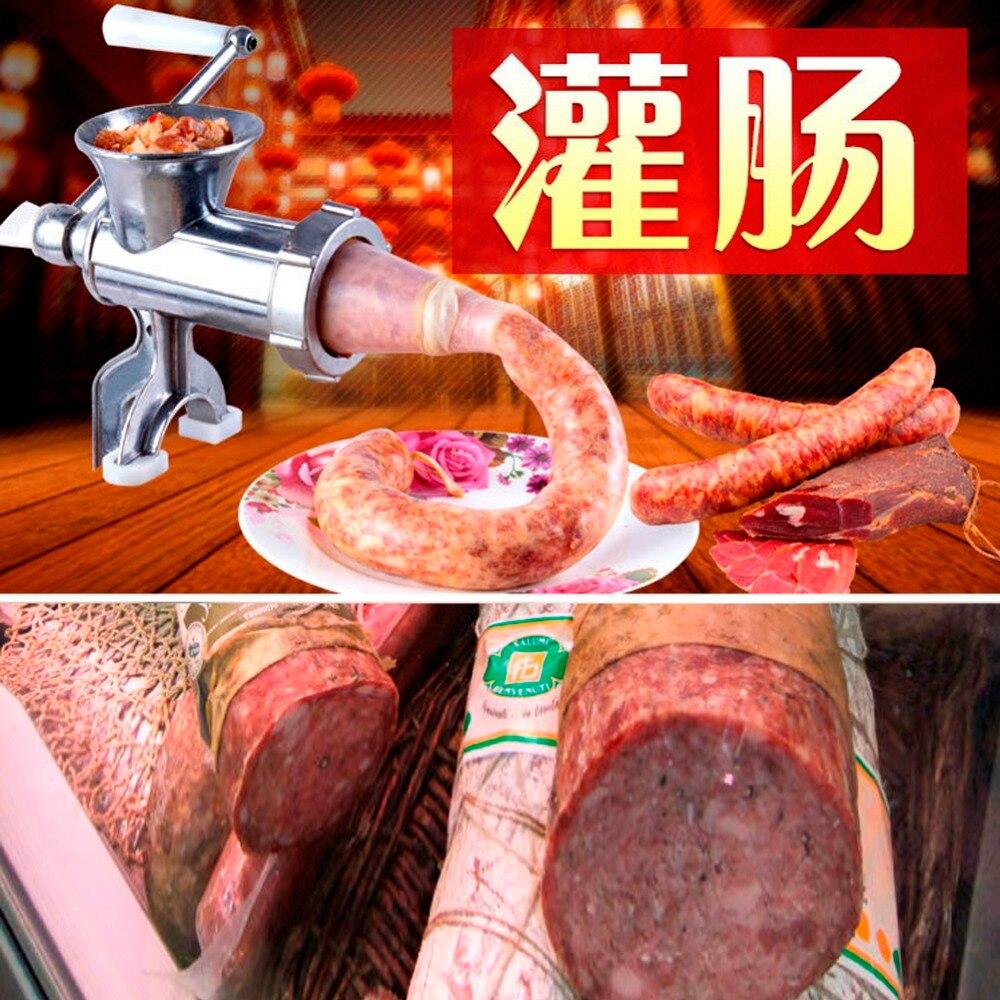Moedor de carne salsicha stuffer enchimento máquina quente liga alumínio manual carne comercial cozinha ferramenta cortador slicer