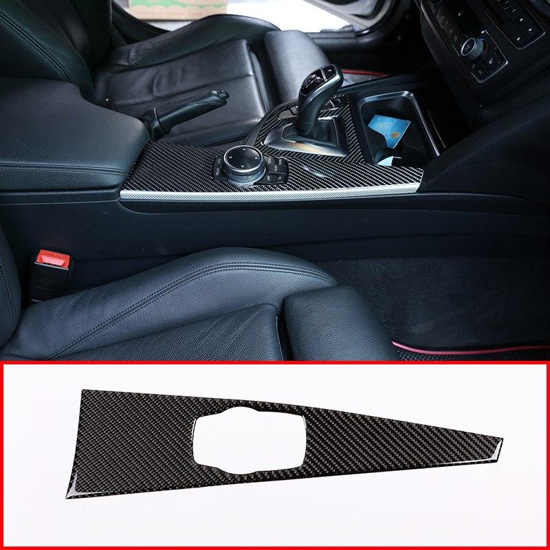 Cubierta de Panel Multimedia Interior de fibra de carbono Real para BMW 3 Series GT F30 F33 F34 F36 2013-2019 la izquierda