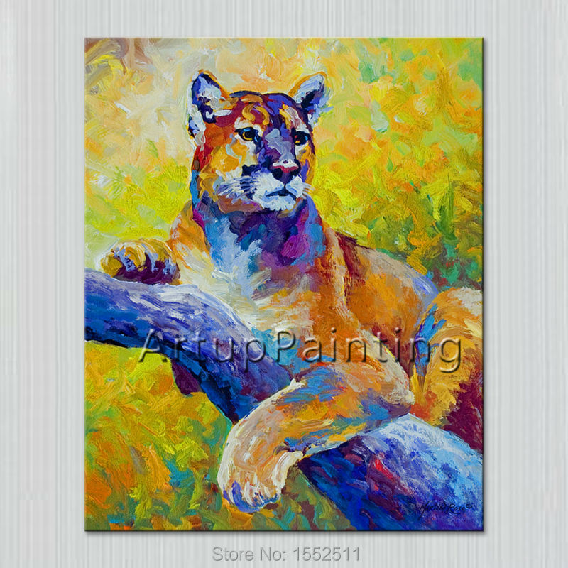 Pintura al óleo abstracta moderna sobre lienzo para arte pop Tigre pintura manual animales arte pop hogar adorno Cuadro 5