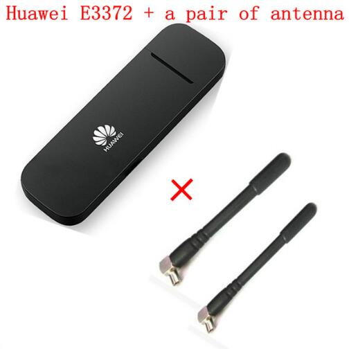 Unlocked Huawei E3372 E3372h-153 plus pair antenna 150Mbps Modem 4G LTE Dongle USB wireless