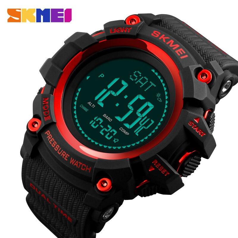 Skmei relógio do esporte masculino moda relógio digital altímetro barômetro bússola temperatura tempo eletrônico relógios masculinos de luxo