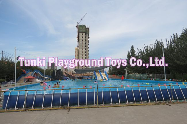 10x10x1.3m large mobile metal frame swimming pools playground