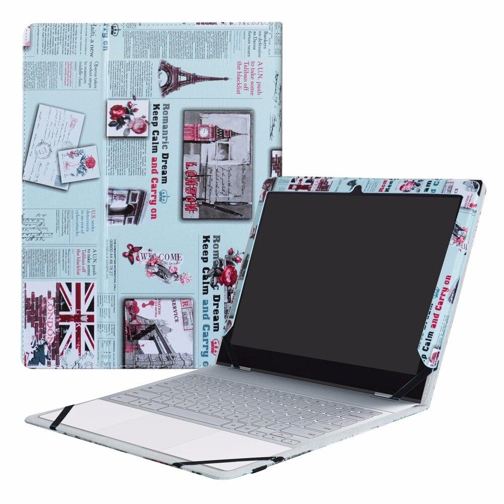 "Caso Para 12.3 ""Google Pixelbook (12.3 Polegada HD IPS Toque) Laptop Folding PU Couro Stand Capa 2em1"