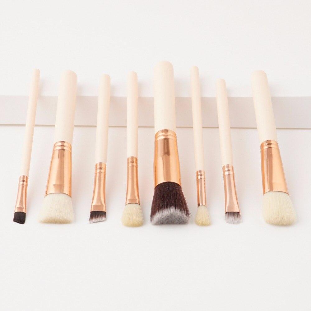 Sombra de olho pincéis de maquiagem beleza rosto 8 pces kabuki pó escova para mulheres cor da pele lidar com tools como de maquillaje artista ferramentas
