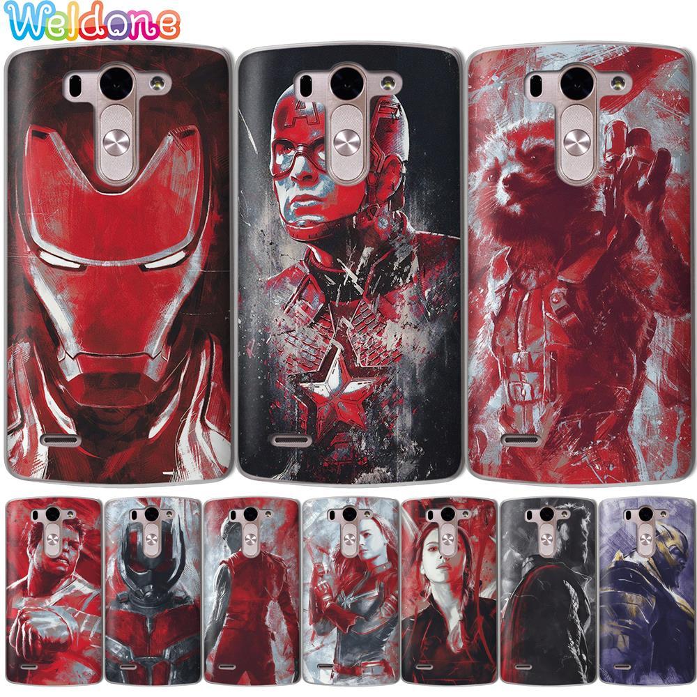 Capitán Los vengadores de Marvel caja del teléfono para LG Q6 Q7 G6 G7 V30 XPower 2 3 K10 K8 2018 2017 K9 K11 K7 G4 caso pintado de estuche de cubierta capa