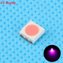 50 pcs Ultra lumineux 5050 LED SMD rose puce montage en Surface 20mA lumière-diode émettrice LED SMT perle lampe lumière bricolage pratique
