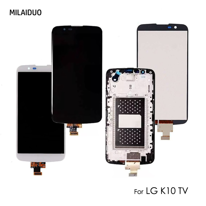 Pantalla LCD para LG K10 TV K10TV K430TV K410TV digitalizador de pantalla táctil reemplazo de montaje completo con marco de 5,3 pulgadas