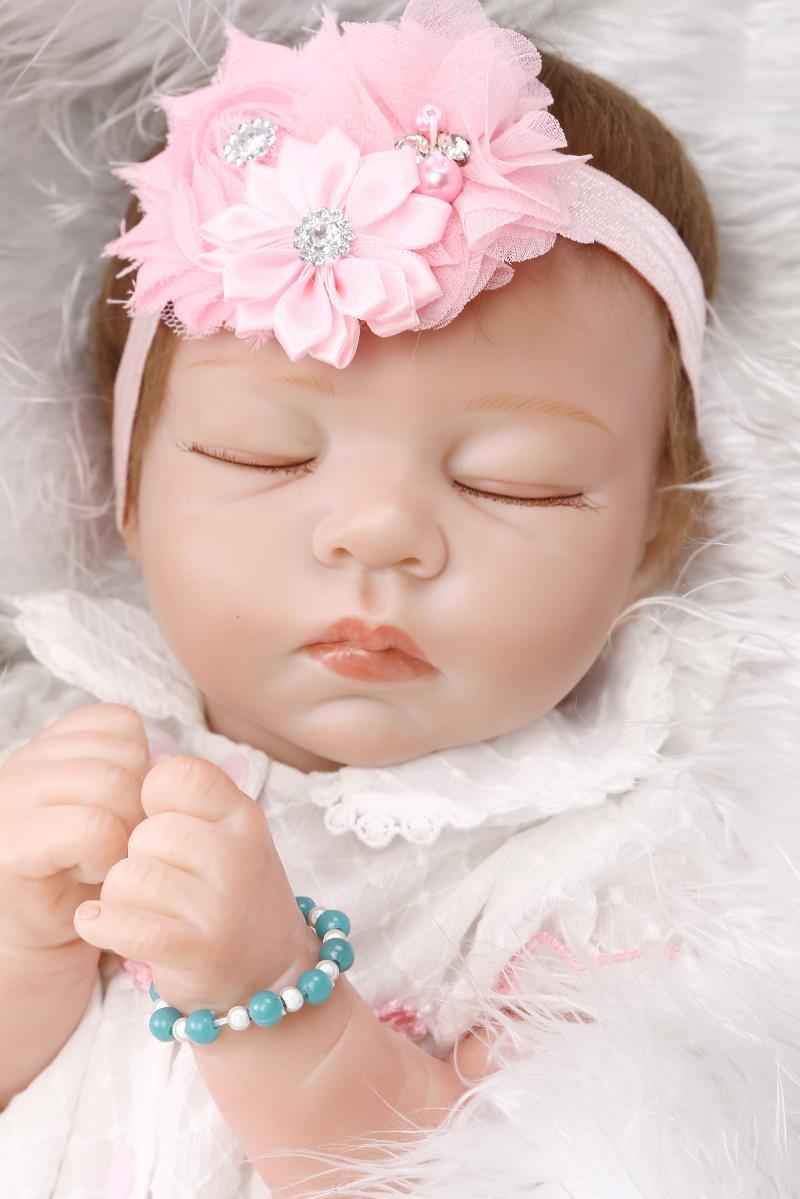 Lifelike silicone reborn dolls babies 52CM baby toddler girl dolls gift boneca reborn realista  brinquedo menina