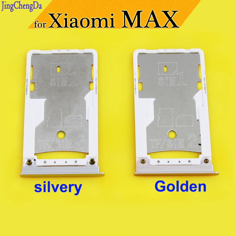 JCD New For Xiaomi MI MAX SIM Card Tray Slot Holder Adapter Replacement Parts for Xiaomi MAX silvery/Golden single sim card tray holder slot for samsung galaxy s6 g920 sim card holder slot tray container adapter golden silvery gray