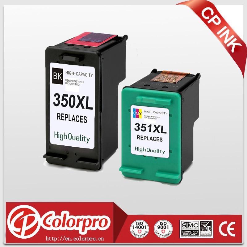 CP 350XL 351XL Replacement for HP350 351 Ink Cartridge for HP Photosmart C4200 C4480 C4280 C4580 C5280 J5780 J5730 J5780 (2PK)